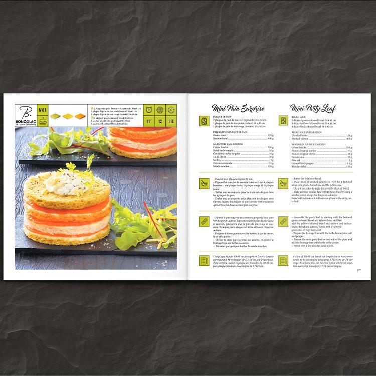 Double page recette pain surprise - livre de recettes street foo