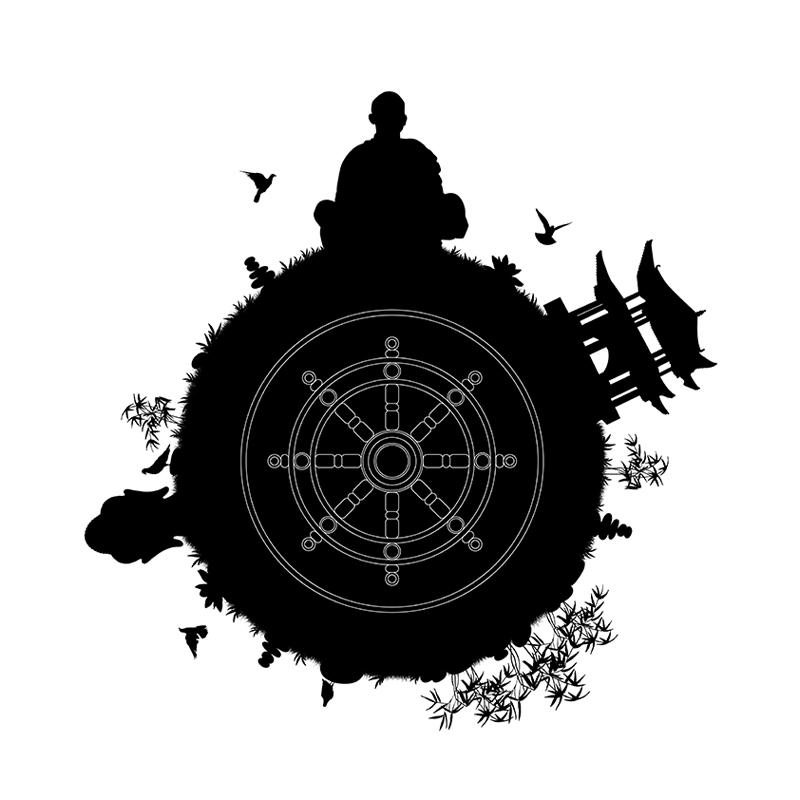 illustration-zen-roue-dharma-banque-image-autograff-graphiste-freelance-toulouse
