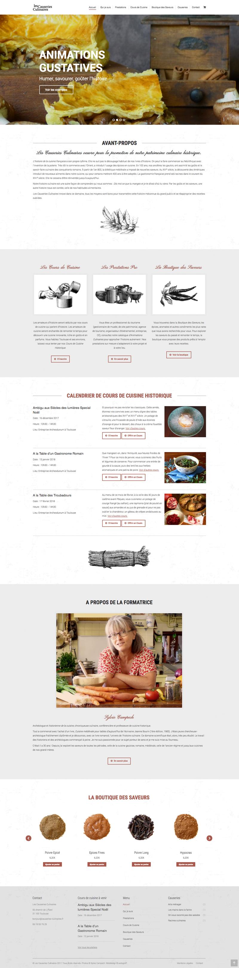 site-internet-cours-cuisine-historique-boutique-epices-les-causeries-culinaires-autograff-graphiste-freelance-toulouse-home-page