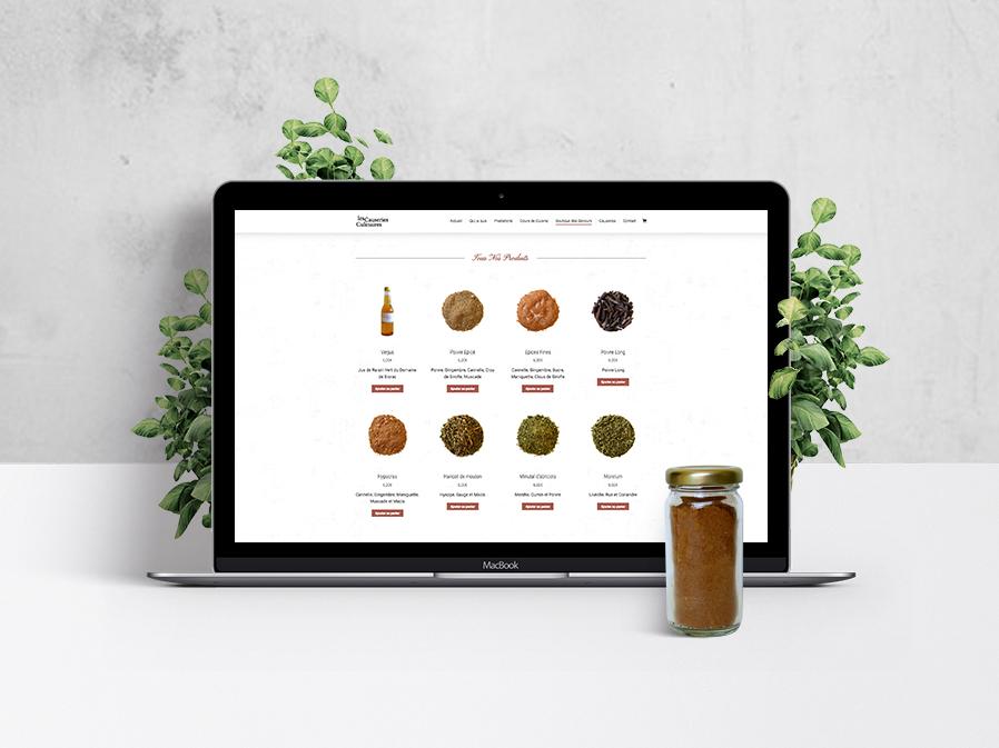 site-internet-cours-cuisine-historique-boutique-epices-les-causeries-culinaires-autograff-graphiste-freelance-toulouse-produits