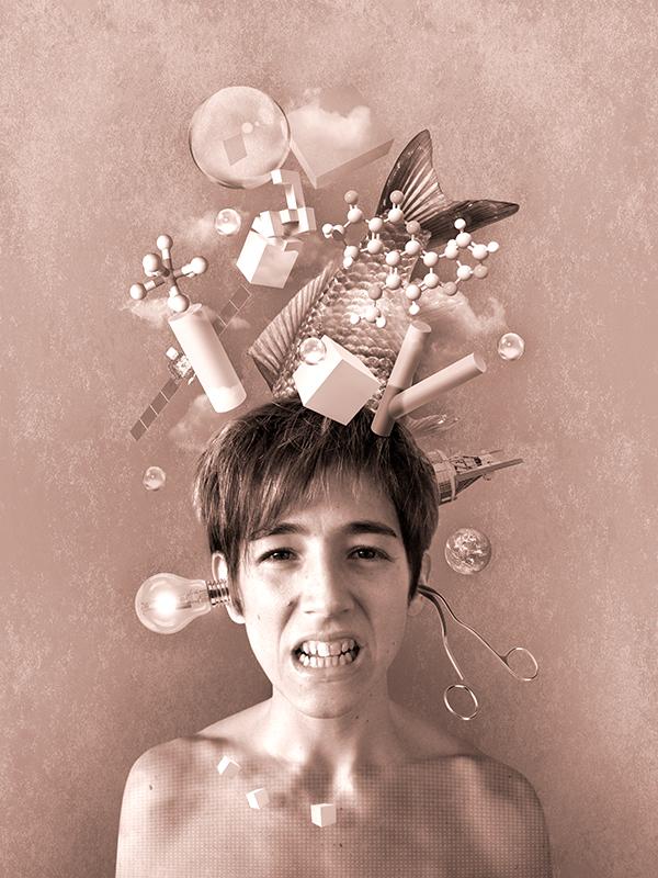 visuel-photoshop_femme-objets-surrealiste_in-my-head-project_autograff-graphiste-freelance-toulouse_2015
