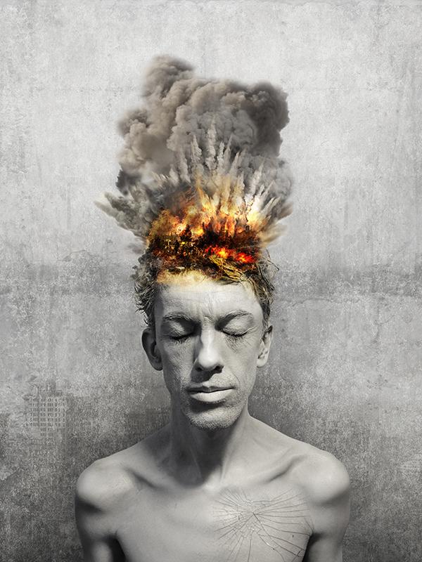 visuel-photoshop_homme-en-explosion_in-my-head-project_autograff-graphiste-freelance-toulouse_2015