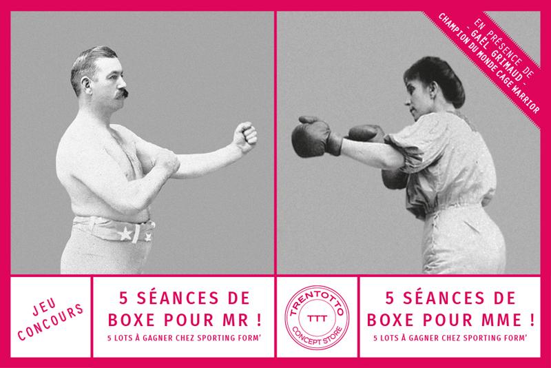 flyer-jeu-concours-trentotto-design-boxe-noir-blanc-rose-photo-retro-autograff-graphiste-freelance-toulouse-recto