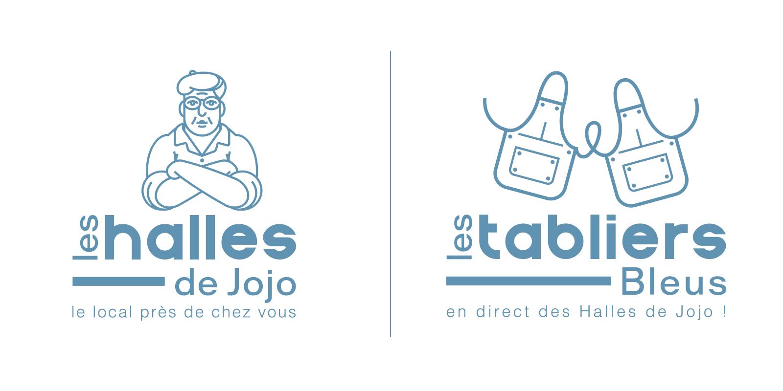 logo-marche-local-brasserie-traditionnelle-bleu-autograff-graphiste-freelnace-toulouse-2018-blanc-aplat