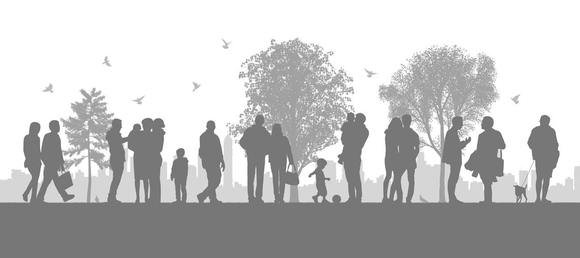 illustration-vie-ville-urbain-parc-silhouettes-gens-autograff-graphiste-freelance-toulouse