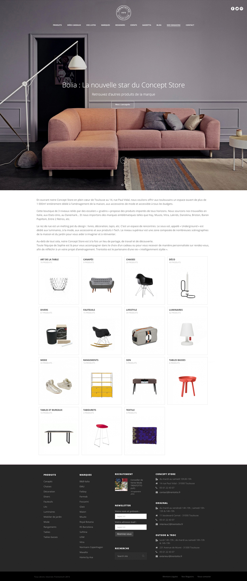 site-internet-boutique-catalogue-mobilier-design-italien-retro-trentotto-autograff-graphiste-freelance-toulouse-page