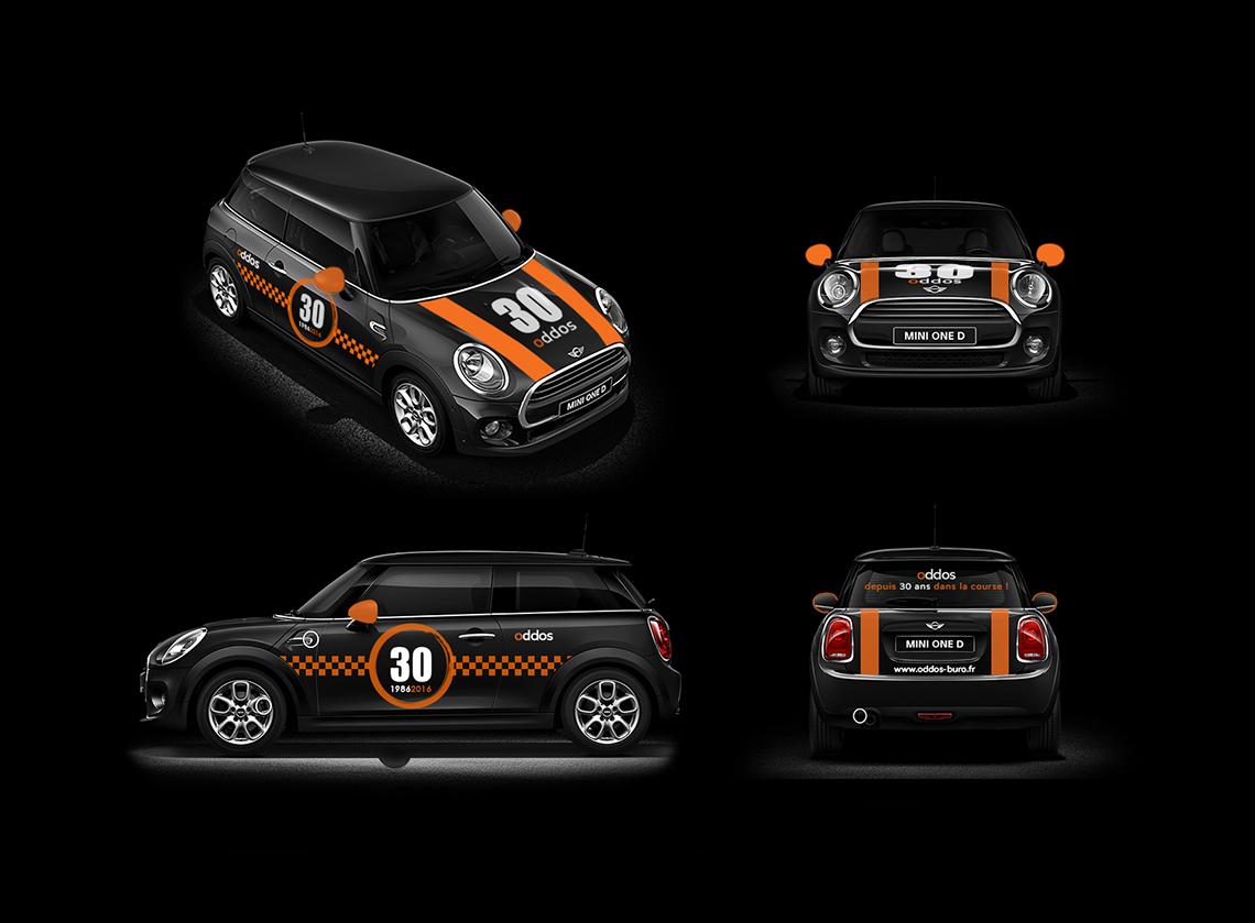 flocage-voiture-mini-noir-orange-course-autograff-graphiste-freelance-toulouse