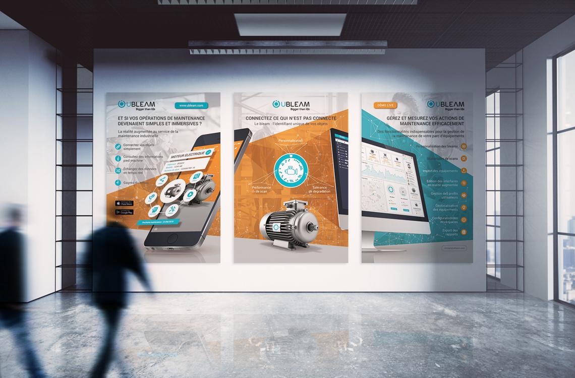 affiche-visuel-realite-augmentee-iot-solution-application-mobile-web-ubleam-fusion-autograff-graphiste-freelance-toulouse-mockup