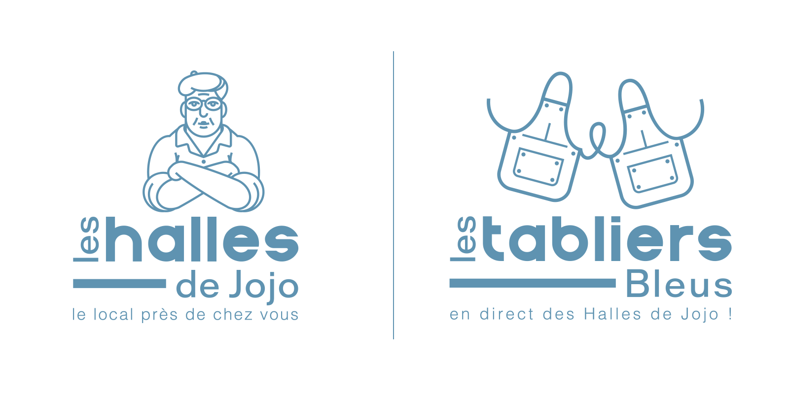 logo-marche-local-brasserie-traditionnelle-bleu-autograff-graphiste-freelnace-toulouse-2018-blanc-aplat