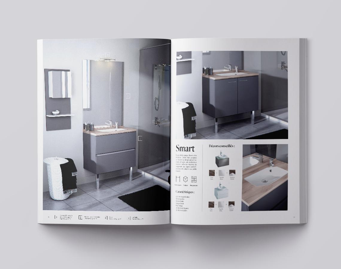 catalogue-salle-de-bain-mobilier-deco-haut-de-gamme-autograff-graphiste-freelance-toulouse-ouverture-page-double-produit
