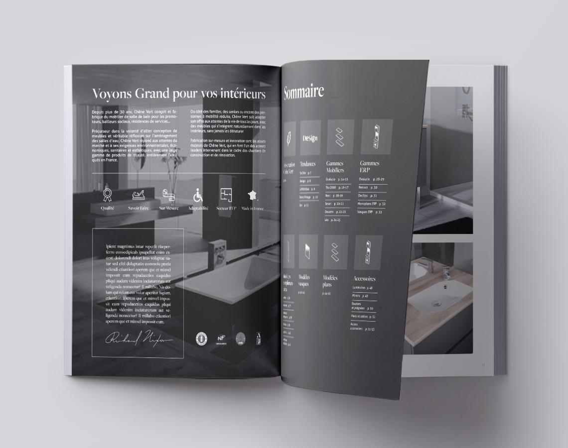 catalogue-salle-de-bain-mobilier-deco-haut-de-gamme-autograff-graphiste-freelance-toulouse-ouverture-page-double-sommaire