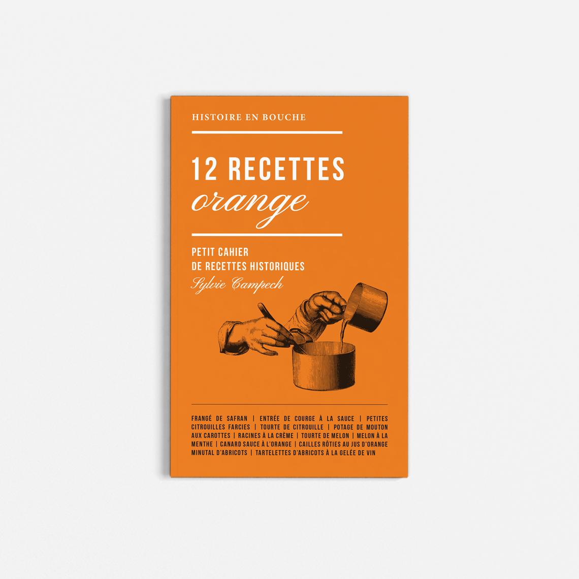 livret-recettes-historiques-couleur-orange-rouge-vert-livre-cuisine-design-autograff-graphiste-freelance-toulouse-couverture