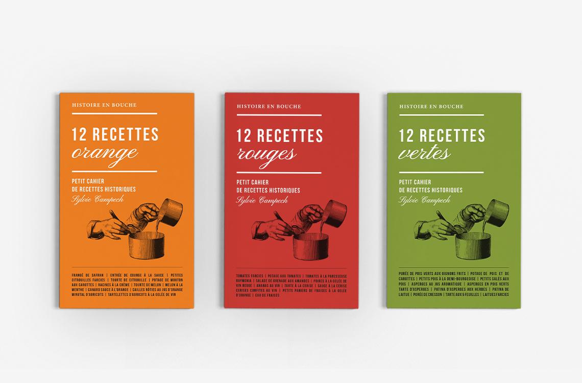livret-recettes-historiques-couleur-orange-rouge-vert-livre-cuisine-design-autograff-graphiste-freelance-toulouse-couvertures