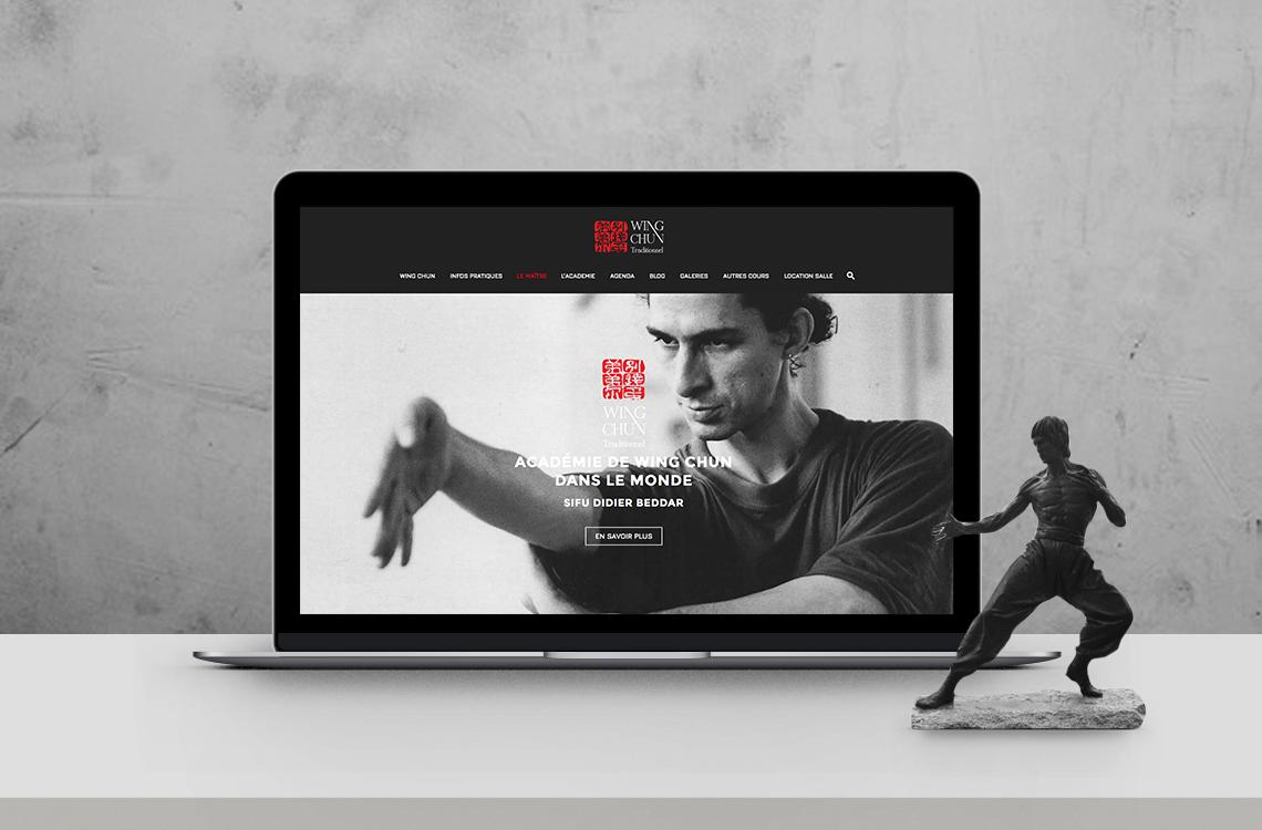 website-design-ecole-arts-martiaux-kung-fu-wing-chun-autograff-graphiste-freelance-toulouse-page-academie